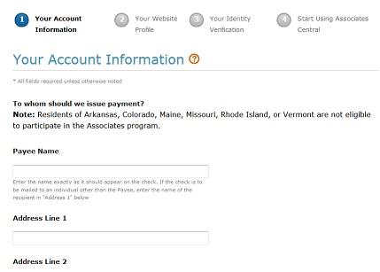 account amazon affiliate