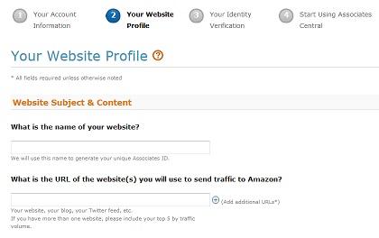 website profile amazon affiliate